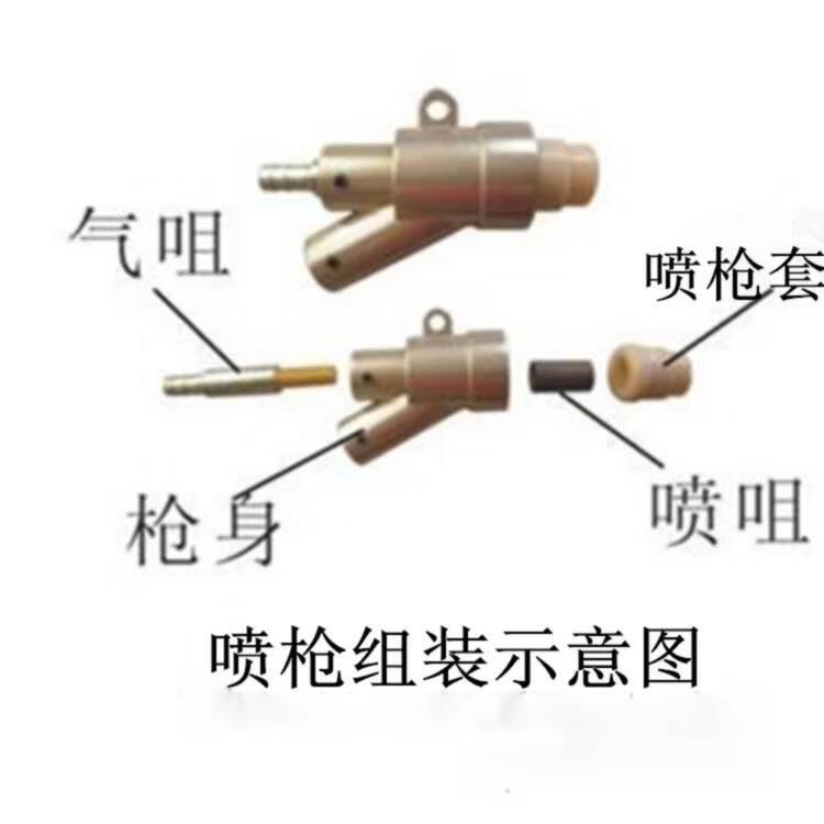 喷枪组装示意图